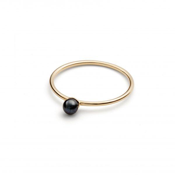Black Pearl Petite Ring