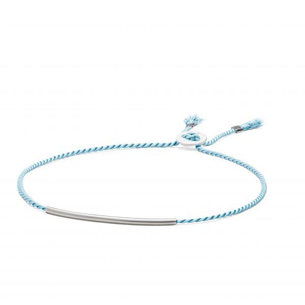 Natural Silk Bracelet - Turquoise