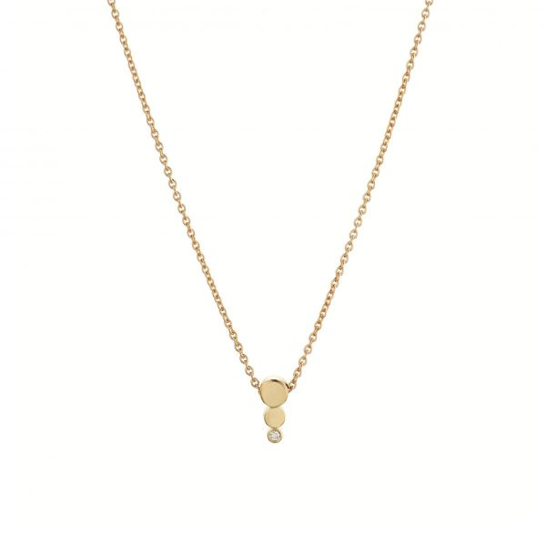 ONE DIAMOND NECKLACE – 18K GOLD