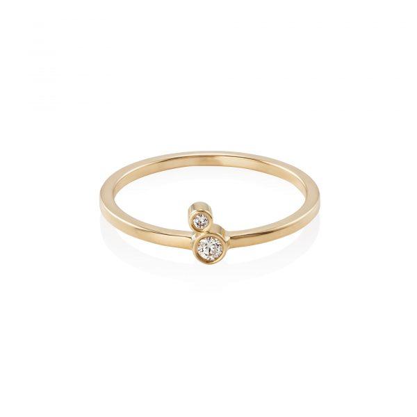 Double Diamond Ring by Simona Samojauskaite